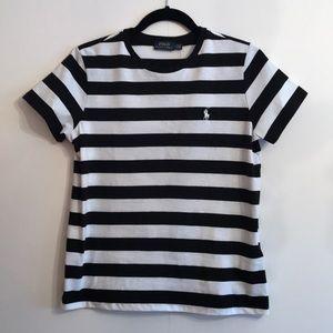 POLO RALPH LAURENT Short Sleeve Tee Black & White
